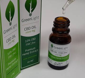 green light cbd oil with dropper