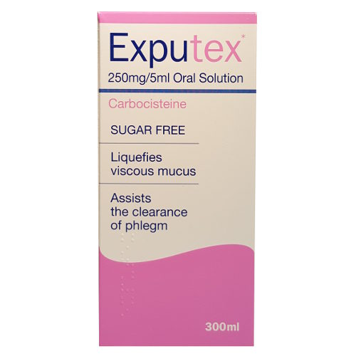 EXPUTEX 250MG/5ML ORAL SOLUTION