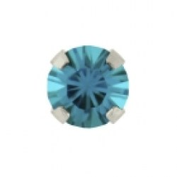 Studex 9ct White Gold Tiffany 3mm December Blue Zircon Ear Piercing