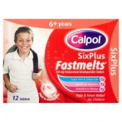 Calpol medicine infant Six Plus Fastmelts