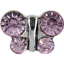 STUDEX Stainless Steel June Alexandrite Butterfly EARRINGS