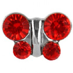 STUDEX Stainless Steel July Ruby Butterfly EARRINGS