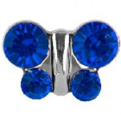 STUDEX Stainless Steel September Sapphire Butterfly EARRGINGS
