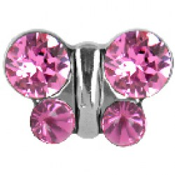 Studex Stainless Steel Oct Rose Butterfly