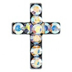 Studex Stainless Steel Cross AB Crystal