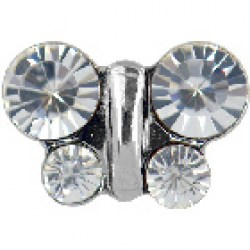 Studex Stainless Steel April Crystal Butterfly earrings