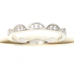 Sterling Silver Tiara Style Ring with Cubic Zirconia Stones