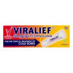 Viralief 50mg/g Cold Sore Cream