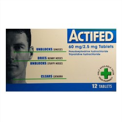 actifed unblock sinus 12 tablets