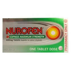 NUROFEN EXPRESS MAXIMUM STRENGTH 400MG 12 TABLETS