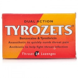 Tyrozets Dual Action 24 Lozenges