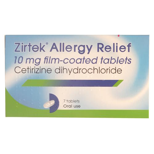 Zirtek allergy relief 7 tablets